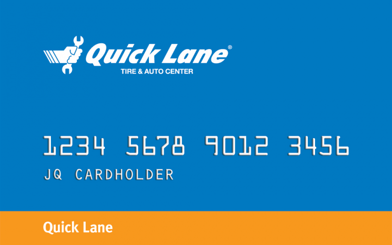 Quick Lane Service Card Offer